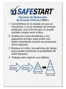 Técnicas de Reducción de Errores Críticos de SafeStart (TREC) : La auto-activación es la primera técnica para la prevención de errores.